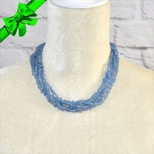 Jewelry - Blue Multi-layered Bead Necklace ~0cd40s0sc21